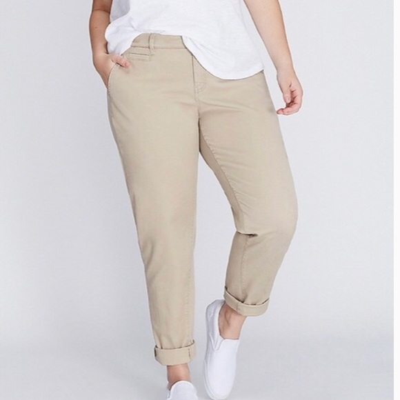 46db9108327ba Lane Bryant Pants - Lane Bryant Boyfriend Chino Pants